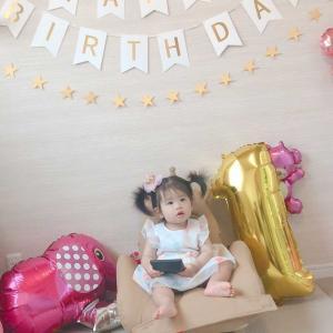 お孫ちゃん、1歳のBIRTHDAY!!