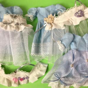 リカちゃんの洋服制作 ④⑤水色ドレスとパジャマ