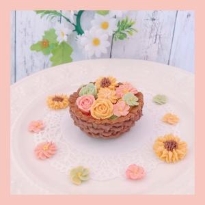 可愛いお菓子を作りました【募集】プチコフレ newあんフラワークッキー