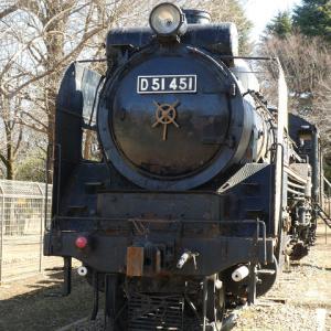 昭島市立昭和公園の蒸気機関車 D51 451
