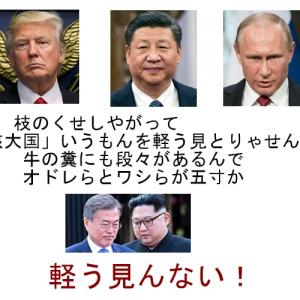 トランプ大統領は再選に有利なら北の核を潰すだろうし「米国への嫌がらせ」で許していた中国とロシアも米軍が撤退すれば潰すと思う