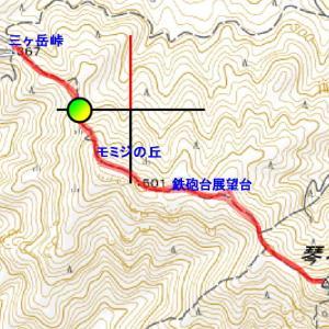 三ヶ岳峠から琴石山へ