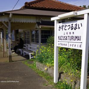 春の日差しの駅