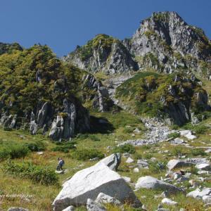 中央アルプスの岩稜
