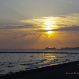 梅雨時期の夕日