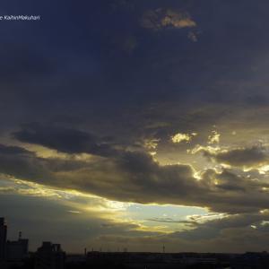 激しく動く雲