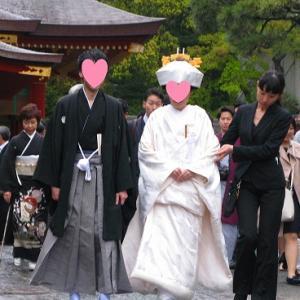 雨の中の結婚式&雨の中のレンタル着物♪