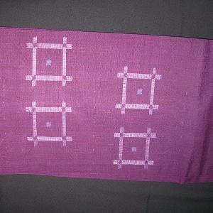 今の季節にピッタリの紫の紬帯♪