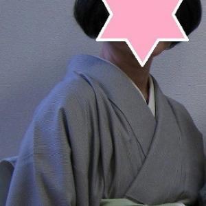 みぞれの中、江戸小紋で横浜は馬車道十番館へ♪
