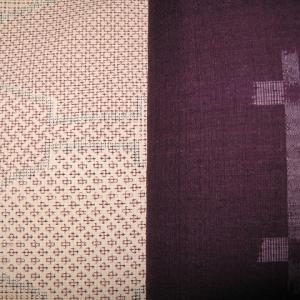 初秋に締める紫の井桁の帯があったなあ♪