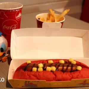 """""""ドナルドのホット・ジャングル・サマー""""の真っ赤なホットドッグだよ~(^^♪"""
