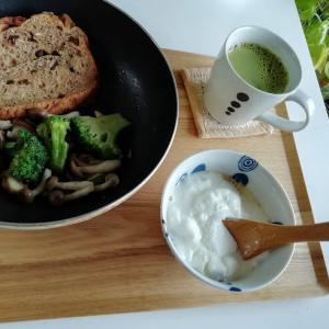 今日の朝昼晩、コンビニのクロックムッシュ、キャベツと卵の中華炒めなど