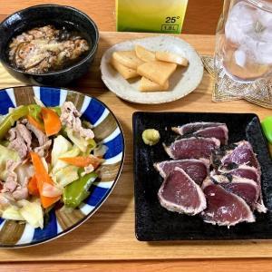 カツオタタキ、回鍋肉、もずく酢納豆他