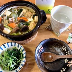 五目うま煮鍋と水菜のナムル