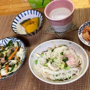 野菜室一掃!肉野菜炒め、はるさめサラダ、本格キムチ、カボチャ煮