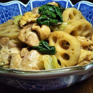 根菜と肉 (『蓮根と鶏肉』 & 『大根と豚肉』)