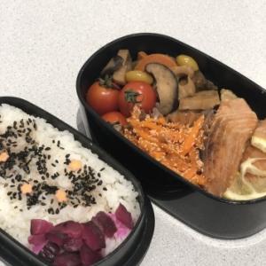 今日のお弁当  ~鮭の幽庵焼き風~