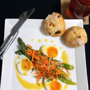 今日の朝ごはん  〜アスパラと玉子のサラダ〜