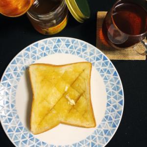 今日の朝ごはん  〜ハニーバタートースト〜
