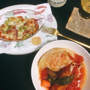 今日の晩ご飯  〜リメイクポトフとアボガドチーズ〜
