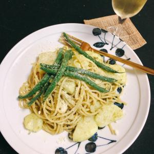 今日の昼ご飯  〜パスタジェノベーゼ〜
