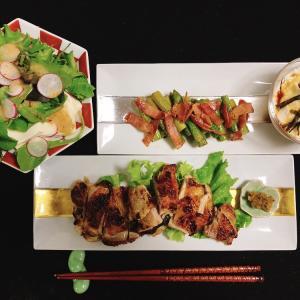今日の晩ご飯 〜塩糀味付けチキンソテー〜