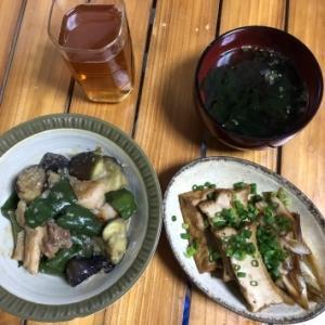 鶏と茄子とピーマンの味噌しぎ