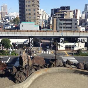 言い訳の東京旅行四日目(6)。品川神社の富士塚。品川宿、品達せたが屋。品川駅からさようなら