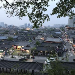 2019年春韓国大邱旅行二日目(6)。全州韓屋マウル、오목대(梧木台)。宿で晩酌
