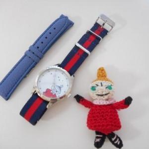 リトルミイの本格腕時計をオシャレバンドに替えてみた(^O^)/