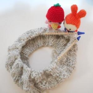 輪針を使って、帽子から帽子へ(#^^#)(#^.^#) その1