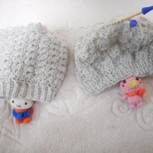 輪針を使って、帽子から帽子へ(#^.^#)(#^^#) その2