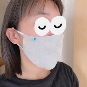 娘に買った海老蔵さんのマスク付けてみました(着画あり)。。