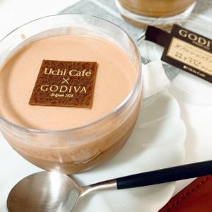 今日のデザートはローソンゴディバ・ダブルショコラプリン。。