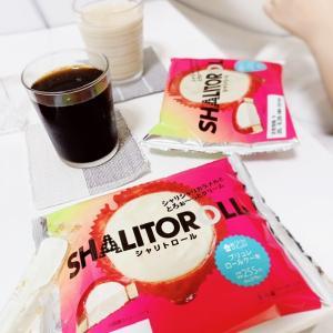 今日のデザートはローソン!シャリトロール・ブリュレロールケーキ。。