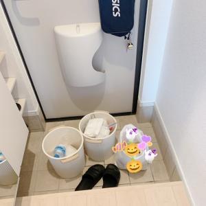 【大掃除始めました】玄関タイルの水洗い。。