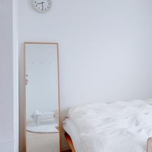 【無印良品】新居の寝室レースのカーテン。。