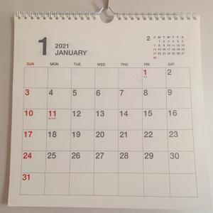 今年の目標と今の私とカレンダーとガラーンのキッチン。。