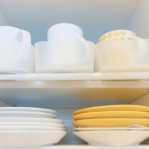 【キッチン:食器棚】【その2.ニ段目】目指すは楽に出し入れすること!でも、ここは出来てません。。