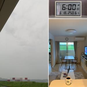 6月18日金曜日。雨100%。。