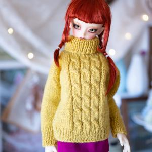 母に手編みのセーターを編んでもらいました