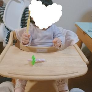 大物購入*離乳食での娘のハイチェア
