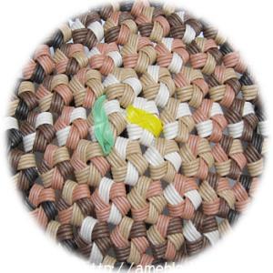 カラフルな花結び編みを楽しむ 3