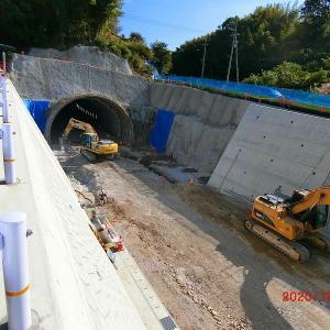 新青影トンネル工事進捗状況