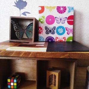 手探りで作り始めた小さいテーブルがひとつだけのデザインで完成したよ♪って話