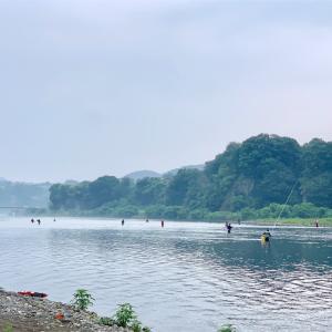 #2019-10 【桂川】激混み松留放水口で3時間半の釣りです。