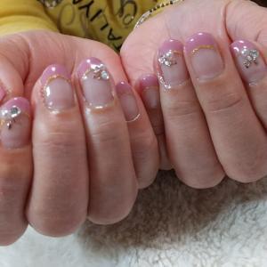 【名古屋市名東区ネイルサロン】さっそく春ネイル♡ピンクベージュのフレンチネイル