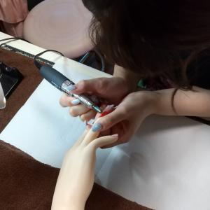 【名古屋市名東区ネイルスクール】1DAYレッスンにて☆マシンでオフに初挑戦