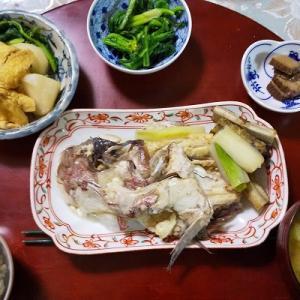 本日も感謝の実家の夕食