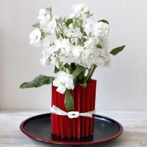 【ダイソー】紙1枚で高級感アップ! 紅白の花あしらい♪